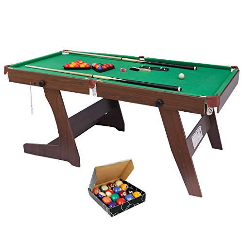 6FT Folding Billiards Table Snooker Table Set with All Accessories, Great...