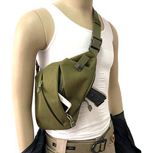 LifeBest Nylon Herren Umhängetasche Einzeltasche Robuste Waffentasche Pistole Handgewehrkoffer wasserdichte Umhängetasche Fahrrad-Umhängetasche schwarz Umhängetasche