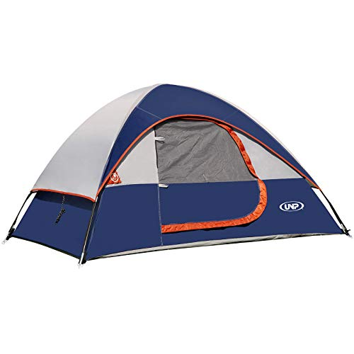unp Camping Tent 2 Person-Navy Blue - Lightweight with Rainfly Easy Set-up Portable-Dome-Waterproof-Ideal for Outdoor Activities, Beach, Backyard Tent