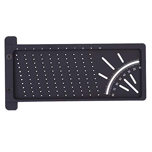 Sailsbury 3D Gehrungswinkelmesslineal Quadratisches Holzmesswerkzeug mit Messgerät,Measure Tool,Precision Woodworking Tools,Hole Measuring Ruler,172mm x 90mm x 5mm