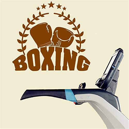 JXLLCD Pegatina de Guantes de Boxeo Kick Boxer Jugando calcomanía de Coche luchando póster Vinilo Delantero Etiqueta de la Pared decoración Pegatina de Boxeo 58x65cm