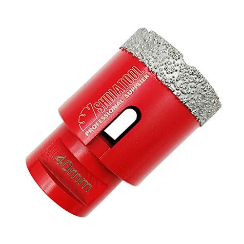 SHDIATOOL Dry Diamond Drill Core Bit Diameter 40mm Vacuum Brazed Drilling Porcelain Tile Granite Marble