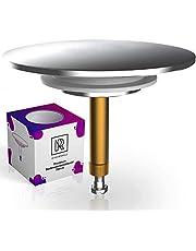 Premium badkuipstop universeel Ø 72 mm voor standaard afvoeren in de badkuip met innovatieve dubbele afdichting, afvoerstop van messing met hard chroomoppervlak, roestvrij & dicht