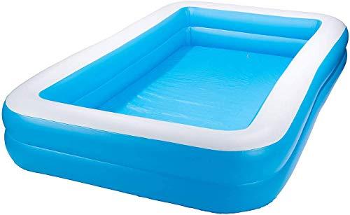 Echden Aufblasbarer Pool Family Pool Deluxe, Kinderpool Planschbecken Schwimmbad Family Ocean Ball PoolPlanschbecken, PVC-Klappbarer langlebiger Swim Pool für Familie, Übererdig, Garten, Outdoor