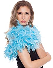 Folat - Boa de Plumas Carnaval o una Fiesta - Azul - 180 cm