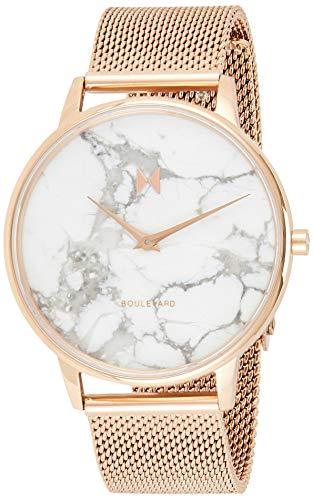 MVMT Damen Analog Quarz Uhr mit Edelstahl Armband D-MB01-RGMA
