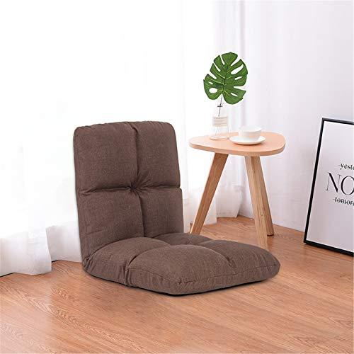 JOMSK Spielstuhlsofa des Spiels Indoor Verstellbare Boden Stuhl Folding Padded Kinderspiel Sofa, Stuhl, ideal for die Meditation, Lesen, Fernsehen (Color : Khaki, Size : 54x54x50cm)