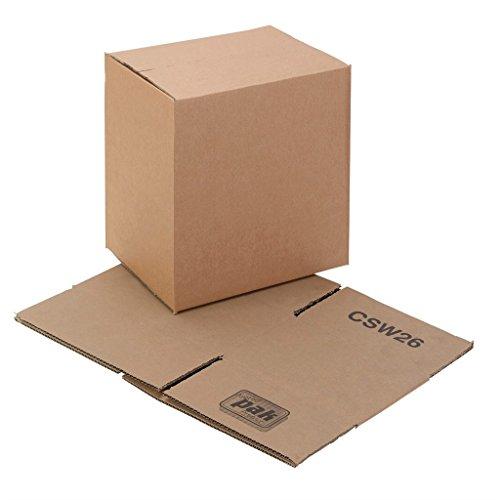 Swiftpak Einwandiger Karton, 375 x 254 x 254 mm, 25 Stück