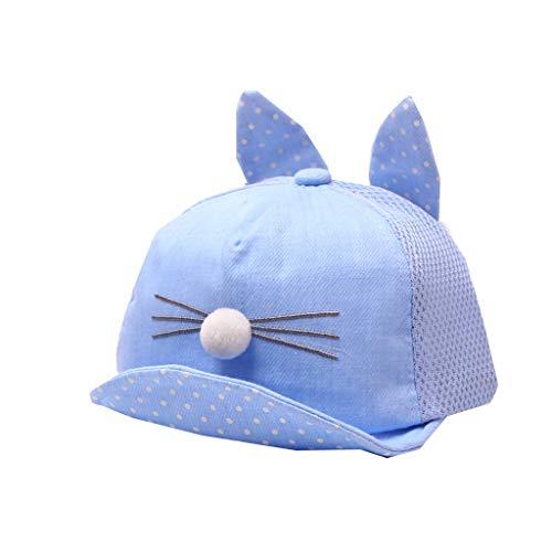 PinkLu Sombrero Playa Sombrero Bebe niña niño Sombrero Infantil Lindo para niños Cara Sonriente Punto de Onda Gorra de Beisbol Sombrero