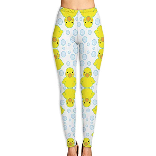wwoman Rubber Ducks and Bubbles Pantaloni Flex per donna Pantaloni Flex per allenamento da allenamento,M
