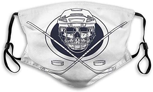 JAONGSADY Mundmaske Gesichtsschutz Wiederverwendbare Außenmasken Hand gezeichnete Skizze Schädel Hockey Helm schützen
