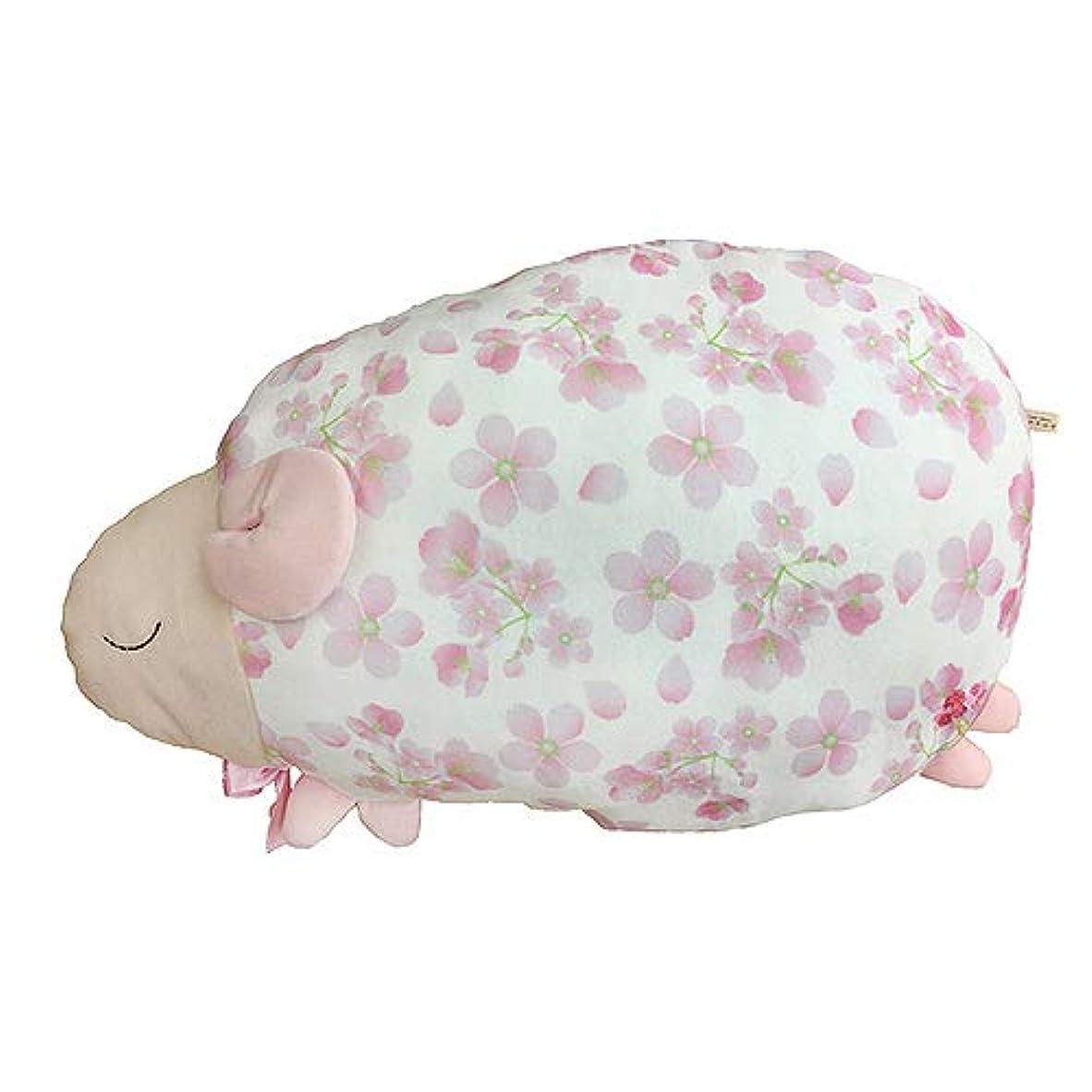 アコード好意経歴ほんやら堂 ふんわり桜咲くおやすみ羊 抱きまくら ピンク 約35x49x15cm RLK38348