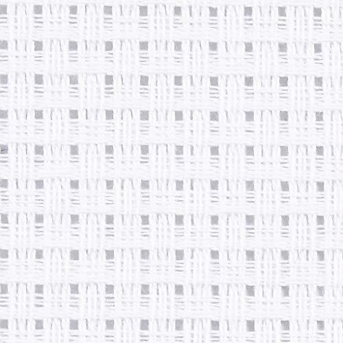 Packlinq Aida-Stoff, Größe 50x50 cm, Weiß, 24 Kästchen pro 10 cm, 1Stck. [HOB-412612]