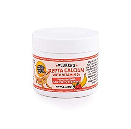Fluker's Strawberry Banana Flavored Repta Calcium w D3, 2-Ounces