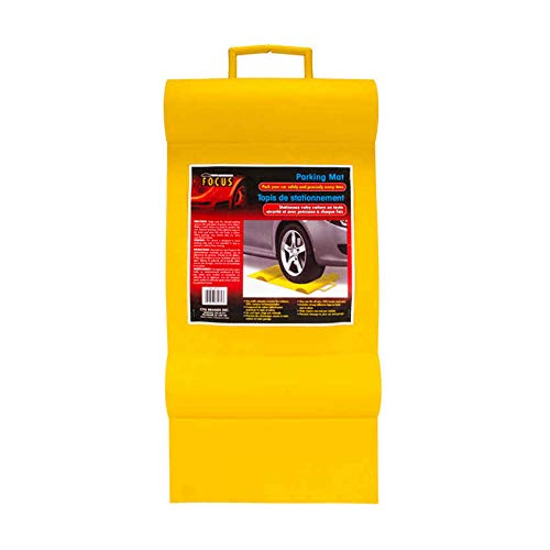 CTG 81072 Focus Auto Rubber Garage Parking Mat, 27 inches, Yellow