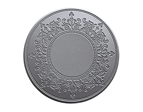 Set di 6 sottobicchieri Royal Silver in ecopelle di alta qualità, design orientale, eleganti sottobicchieri, sottobicchieri, per bar, caffè