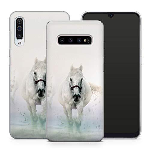 Handyhülle Pferd für Samsung Silikon MMM Berlin Hülle Pferde Reiter Horse Sattel Reiten Pony Einhorn, Kompatibel mit Handy:Samsung Galaxy Note 8, Hüllendesign:Design 2 | Silikon Klar