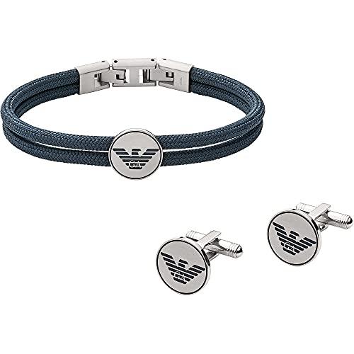 Emporio Armani EGS2784040 Herren Geschenkset Armband & Manschettenknöpfe 21,5 cm