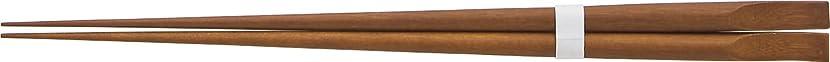進捗下線技術者神堂(Shindo) 竹のたより 箸 天削盛付箸 (茶塗) 24cm 17808