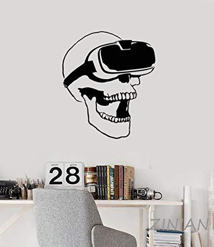 yaonuli Headset Virtual Reality Player Videospiel Wandaufkleber Dekoration 62X50cm