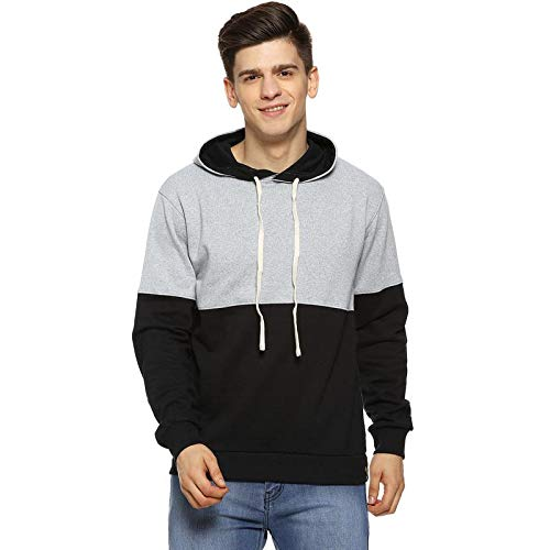 Campus Sutra Full Sleeve Solid Men Black Grey Color Sweatshirt(AZZW19_HHH_M_PLN_BLGR_AZ_XL)