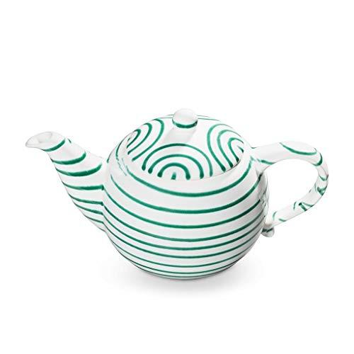 GMUNDNER KERAMIK Teekanne glatt Füllmenge : 1.5 Liter Grüngeflammt Geschirr, handgemacht in Österreich