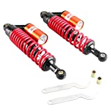 Mallofusa 13.5 Inch 340mm Pair Motorcycle Shock Absorbers Air Rear Suspension Universal Compatible for Honda...