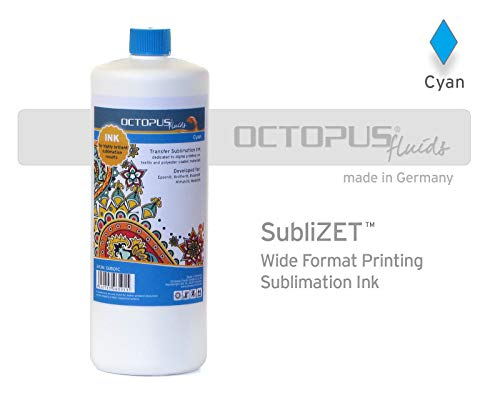 Sublimatie-inkt, Sublimation Ink voor Epson, Brother, Roland, Mimaki, Mutoh, cyan - cyaan 100 ml