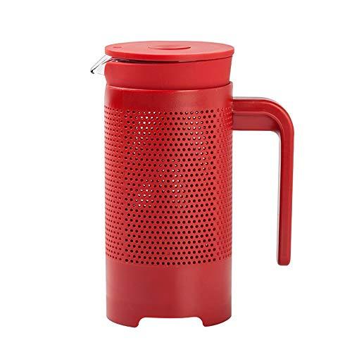 Nvshiyk Französische Presse Kaffeemaschine Kaffeekanne Haushalt Filter Blasen Filter-Kaffeetasse-Handdruck-Filtertopf Einfach zu verwenden (Farbe : Glass, Size : 350ml)