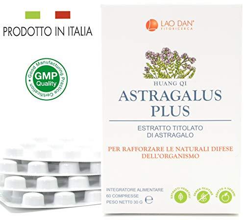 ASTRAGALUS PLUS | Huang qi - Astragalo | 4500 mg | Con estratto Premium Quality TITOLATO al 70% in polisaccaridi | Tonico adattogeno - Difese Immunitarie | PRODOTTO IN ITALIA