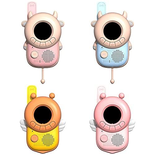 Gdhgfds Pack de 2 talkies-Walkies pour Enfants Jeux de Plein Air Sans Fil Portable Forme abeille/Vache 3KM jouet interactif Cadeau pour garçons Filles