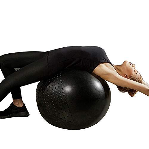FCFLXJ Pelota de Ejercicio Yoga/Fitness/Pelota de Parto Pelota de Equilibrio de Estabilidad Extra Antideslizante de 65 cm para Pilates y Yoga Gimnasio en casa (Negro)