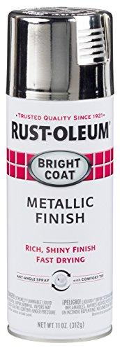 Rust-Oleum 7718830-6PK Stops Rust Bright Coat Metallic Spray Paint, 6 Pack, Chrome, 66 Fl Oz