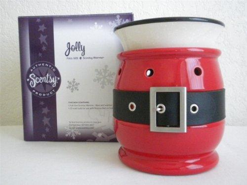 Scentsy Jolly (Santa Coat Design) Full Size Wax Warmer (No Longer Avail) Use in Kitchen or Any Room