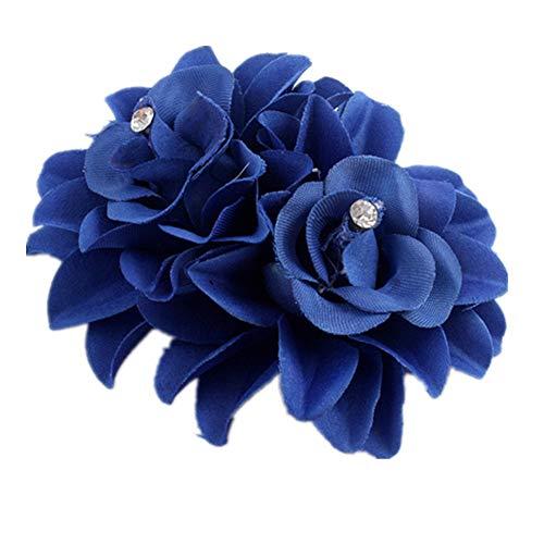 AchidistviQ Pince à cheveux pour femme avec double fleur et strass