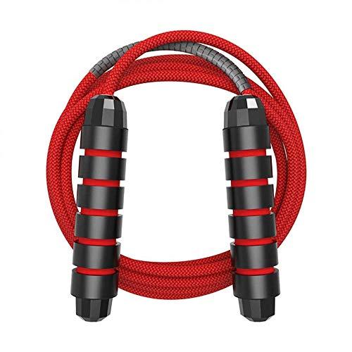 GREFIC 3m verstellbares Springseil Sport, 6 mm Dickes Springseil Baumwolle verstärkte Mitte, Heimübung für Kinder, Erwachsene und Männer, Fitness für mehr Ausdauer, Boxen, Crossfit