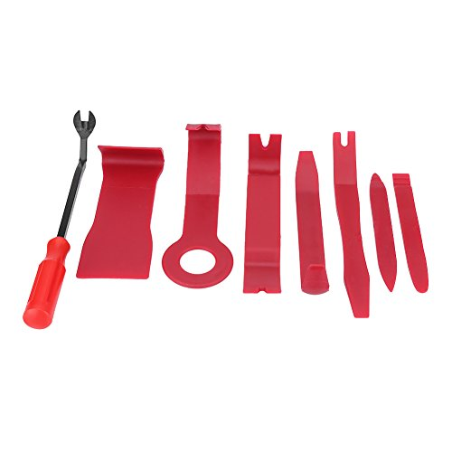 KIMISS Trim Removal Tool, 8pcs Car Interior Radio Audio Stereo Door Panel Clip Clip Trim Dashboard Removal Opening Tool Kit
