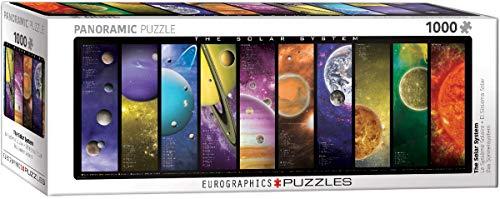 EuroGraphics 6010-0308 The System Puzzle (1000-Piece) Rompecabezas del Sistema Solar (1000 Piezas), Multicolor, Talla única