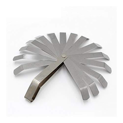 XinXinFeiEr Ligera Herramienta de medición de Acero P20 galga de espesores con 16 Cuchillas for la medición de Gap Ancho Espesor Difícil (Color : Silver)