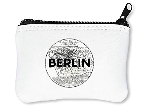 Berlin Map T-Shirt Funny Coin Card Portemonneehouder