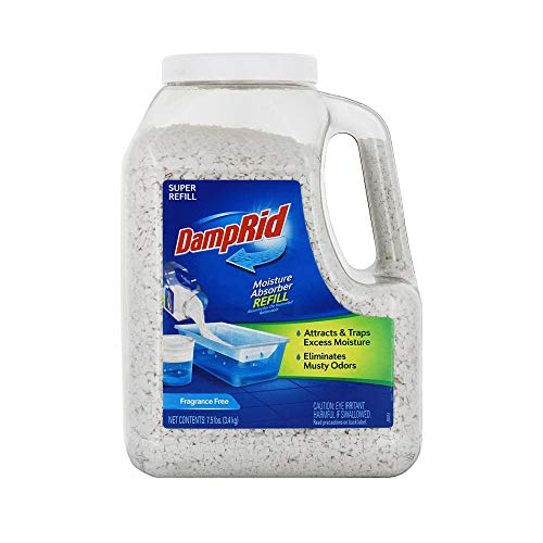 DampRid - Fragrance Free Mega Moisture Absorber Refill Container (7.5 lb.); Traps Moisture in Basements & Large Areas for Fresher, Cleaner Air