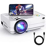 Wi-Fi Mini Projector 3Stone A5 6500 Lux Portable Movie Projector with 1080P Supported, Wireless Screen Mirroring, Blue-ray Glass Lens, Outdoor Multimedia Video Projector Support TV Stick, PC, PS4, AV