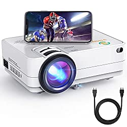 commercial Mini WiFi projector, portable 3Stone A5 4500 Lux cinema projector with 1080P support, wireless … multimedia projector 1080p