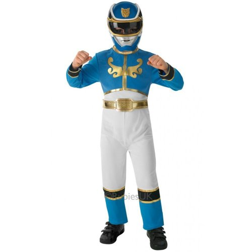 Blue Power Ranger - Power Rangers Megaforce - Kinder-KostŸm - Large - 128cm