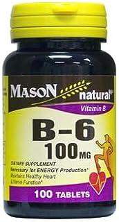 MASON NATURAL, Vitamin B-6 100 Mg Tablets - 100 Ea by