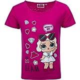 L.O.L. Surprise! - T-Shirt Maglia Maglietta a Maniche Corte - Full Print - Bambina - novità Prodotto Originale con Licenza Ufficiale 192-174X [234 Fucsia - 3 Anni - 98 cm]