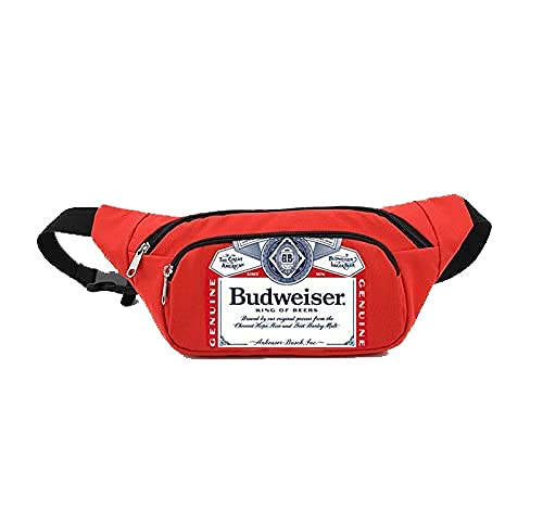 Budweiser Fanny Pack Cooler, Insulated Fanny Pack for Beer and Beverages, Portable Cooler for Outdoors, Camping and Parties