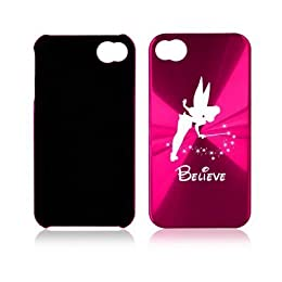 girly and shiny pink tinkerbell iphone case