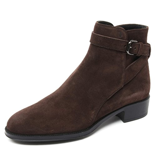 Tod's B4837 Tronchetto Basso Donna Scarpa Marrone Boot Shoe Woman [36]