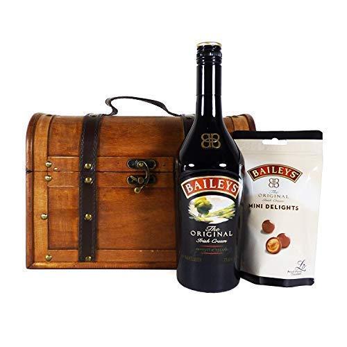 Baileys Original Irish Cream 70cl mit köstlicher Baileys Mini Delights Schokolade präsentiert in einer einzigartigen Aufbewahrungstruhe - Ideen für Geburtstag, Jubiläum und Geschäft